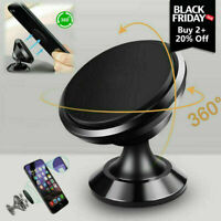 Magnetic Car Mount Phone Holder Stand Dashboard For iPhone Android Samsung Black