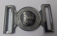 Genuine Royal Montserrat Police Insignia Silver Belt Buckle Chrome Locket MFB34