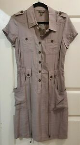 Ladies size 10 Brown Button Front Dress - KATIES