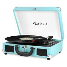 New listing Victrola Bt Suitcase Record Player With 3 Speed Turntable - Turquoise