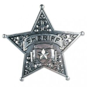 """Metal Sheriff Badge 2.5"""" Party Favor Sheriff Costume Accessory Prop"""