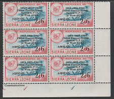 Sierra Leone 3925 - 1963 POSTAL  COMMEMORATION 2s6d on 4d VARIETY unmounted mint