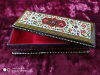 MINIATURE JEWELRY BOX from Uzbekistan.  Handmade  Original painting