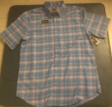 The Foundry Supply Co. Men's L Blue & Pink Plaid Button Down Shirt Brand New