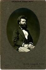 Pierre Petit, Paris, Camille Flammarion, astronome français  Vintage silver prin
