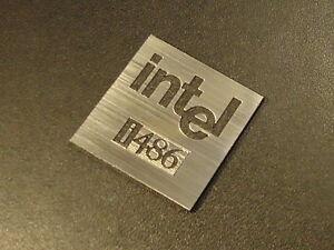Intel 486 Label / Logo / Sticker / Badge 25 x 25 mm [285d]