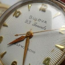 CLEAN Vintage 1958 Men's Bulova 23J Starburst Self-Winding Automatic Watch Runs