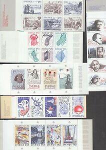 Sweden 13 x Complete  Booklets