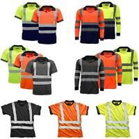 StandSafe High Visibility Safety Reflective Work Tops | T Shirt | Polo Shirt