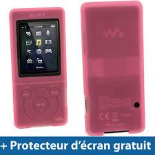 Rose Étui Housse Silicone Coque Case Cover Sony Walkman MP3 NWZ-E575 NWZ-E574