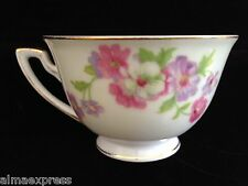 Rare GHB Japan Fine China Ivory & White Floral Flowers TEA CUP