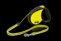 Flexi Retractable Neon Dog Lead, Medium Size Leash, Cord 5m For a Dog up to 20kg