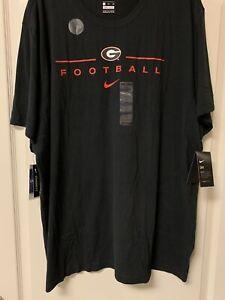 NEW W TAGS - Men's Georgia Bulldogs Football Nike Dri Fit Cotton T Shirt - 3XL