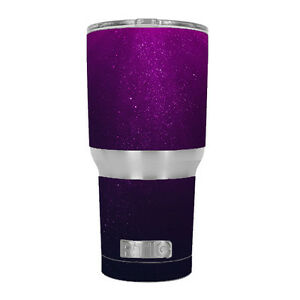 Skin Decal for RTIC 30 oz Tumbler Cup (6-piece kit) / Purple dust