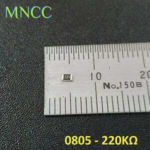5pc/10pc 0805 220KΩ - 220K Ohm 1/8W 5% SMD Chip Resistors Fixed Resistance 2012