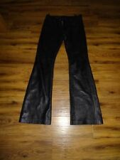 Unbranded Leather Straight Leg Trousers for Women