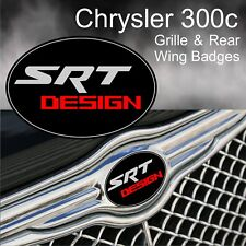 Chrysler 300c SRT Design, Grille, Rear Wing and fender 4 piece badge set