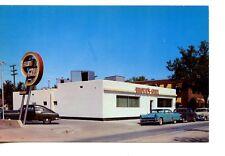Brown's Grill Restaurant-Old Cars-Wichita-Kansas-Vintage Advertising Postcard