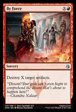 2x MTG: By Force - Red Uncommon - Amonkhet - AKH