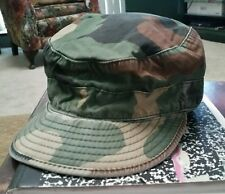 "Army camo cap Fleece Ear Flaps camouflage Size 6 7/8 small 21 3/4"""