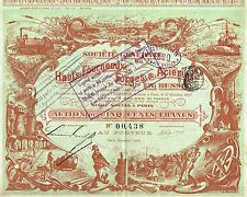 RUSSIA STEEL FURNACES OF RUSSIA stock certificate 1898