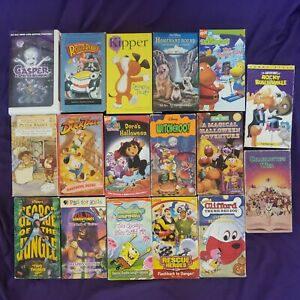 Kids Vhs Lot 17 Vhs Tapes Disney Nickelodeon Pbs Scholastic tested