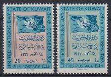 Kuwait 1966 ** Mi.331/32 Vereinte Nationen United Nations Flagge Flag