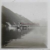 Suisse Lac Dei Quatre-Cantons Gersau Foto Stereo Th2n4 Placca Da Lente Vintage