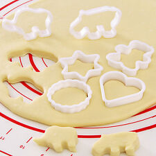 6Pcs Cookie Cake Decorating Pastry Biscuit Fondant Bear Star Mold Mould Cutters