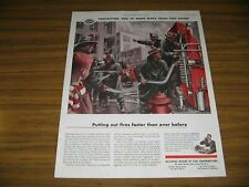 1955 Print Ad National Board Fire Underwriters Burning Building Firemen & Truck