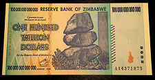 ! Zimbabwe $100 trillion banknote uncirculated MINT condition paper money cash !