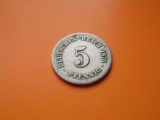 5 Pfennig Deutsches Reich 1876 C ss RAR