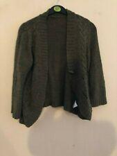 E-vie olive cardigan/shawl size 14-16