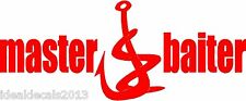 Master Baiter Fish Sticker Decal for Fishermen In Color RED