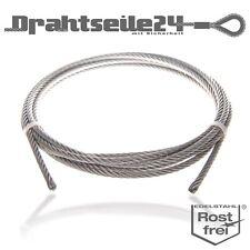 Niro Edelstahl Drahtseil 7x19 3mm Set Drahtseilklemme Kausche Spannschloss