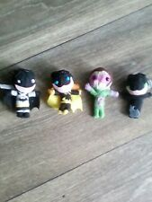 "Batman figure lot,4 yarn dolls 2"" Batman, Riddler, Batgirl & Catwoman Rare"