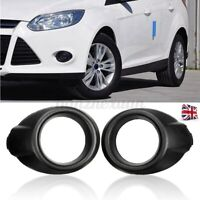 PAIR BLACK BUMPER FOG LIGHT LAMP COVER SURROUND FOR FORD FOCUS MK3   WI Y