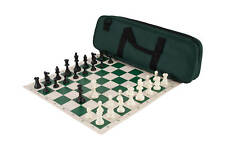 Deluxe Chess Set Combination - Triple Weighted - Forest Green