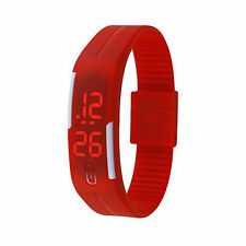 Touch Screen LED Digital Silicone Sport Wrist Watch Men Women Bracelet Watch