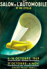 36eme Salon de LAUTOMOBILE et du Cycle 1949 moto voiture deco auto Poster Print