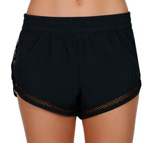 NEW + TAG BILLABONG MESHIN LADIES L / 12 BOARDSHORTS VOLLEY SHORTS STRETCH BLACK