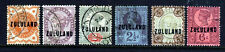 ZULULAND SOUTH AFRICA QV 1888-93 Overprinted GB Part Set SG 1 to SG 8 VFU