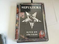 Sepultura -Live In Sao Paulo  DVD Sepultura UK PAL 2 DISC DVD MINT