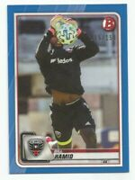 2020 Bowman MLS Soccer BILL HAMID Blue Parallel #d 015/150 D.C. UNITED
