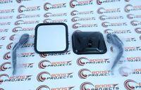Smittybilt Black Side Mirrors for 55-86 Jeep CJ5 & CJ7 Pair - No Drilling 7617