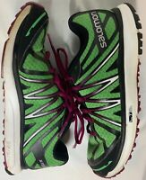 Salomon Women's X-Tour Light Running Shoes Wasabi/Mystic Purple Size 7