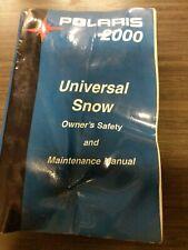 Polaris 2000 Universal Snow Snowmobile Owner Manual
