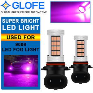 9006 HB4 LED Fog Driving Light Bulb 92SMD Pink Purple 6000K High Power DRL Lamp