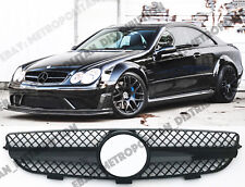 Mercedes C209,A,W209 2002-10 grille,CLK63/55 AMG BLACK SERIES look,GLOSS,CLK350