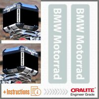 2x BMW Motorrad Grigio / Bianco REFLECTIVE ADESIVI R 1200 1150 F650 GS TOP CASE